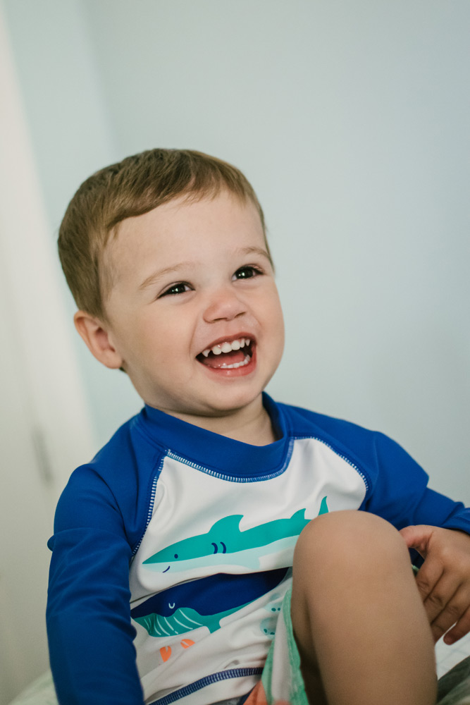 laughing boy in professional photo portrait