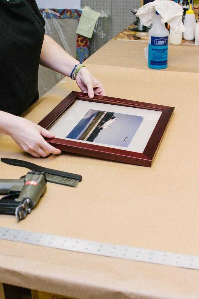 assembling custom frame