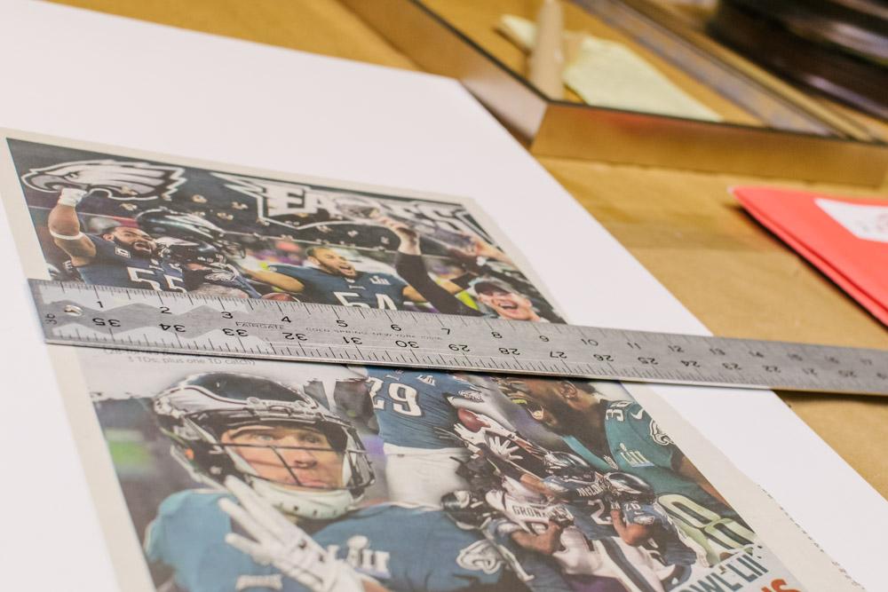 Philadelphia Eagles newspaper clipping