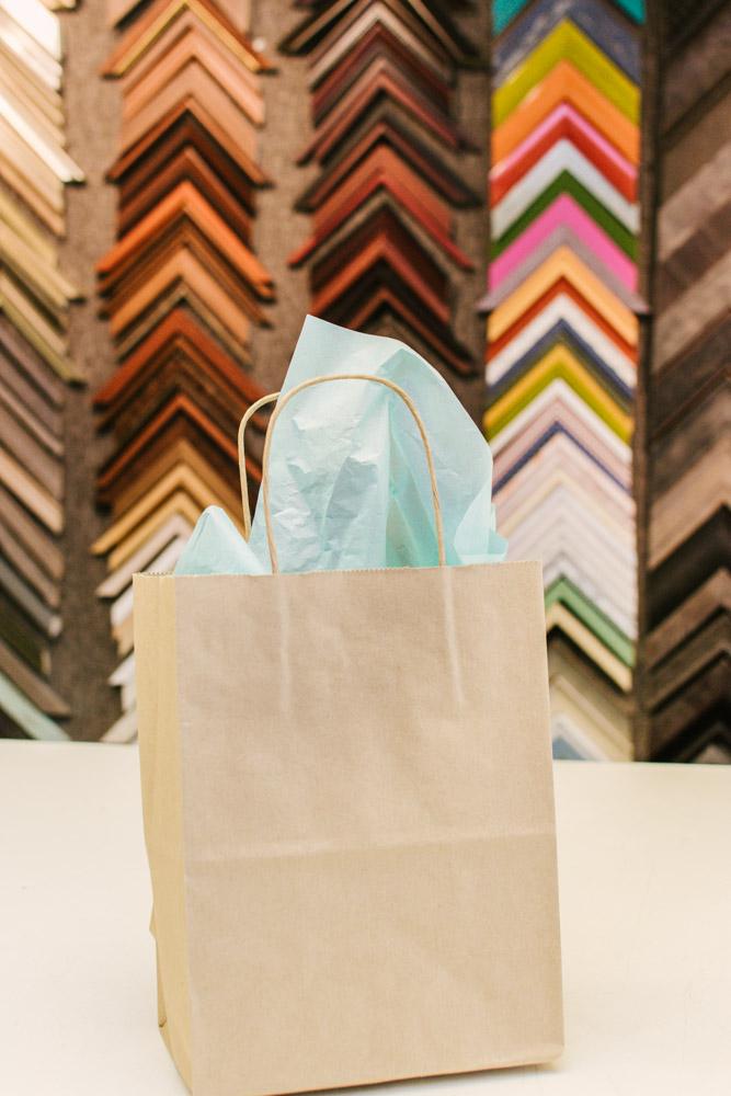 gift bag at The Framery Etc