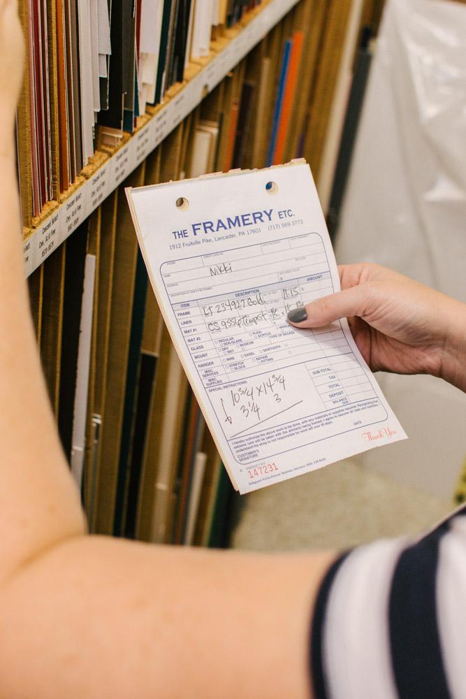 The Framery Etc custom order