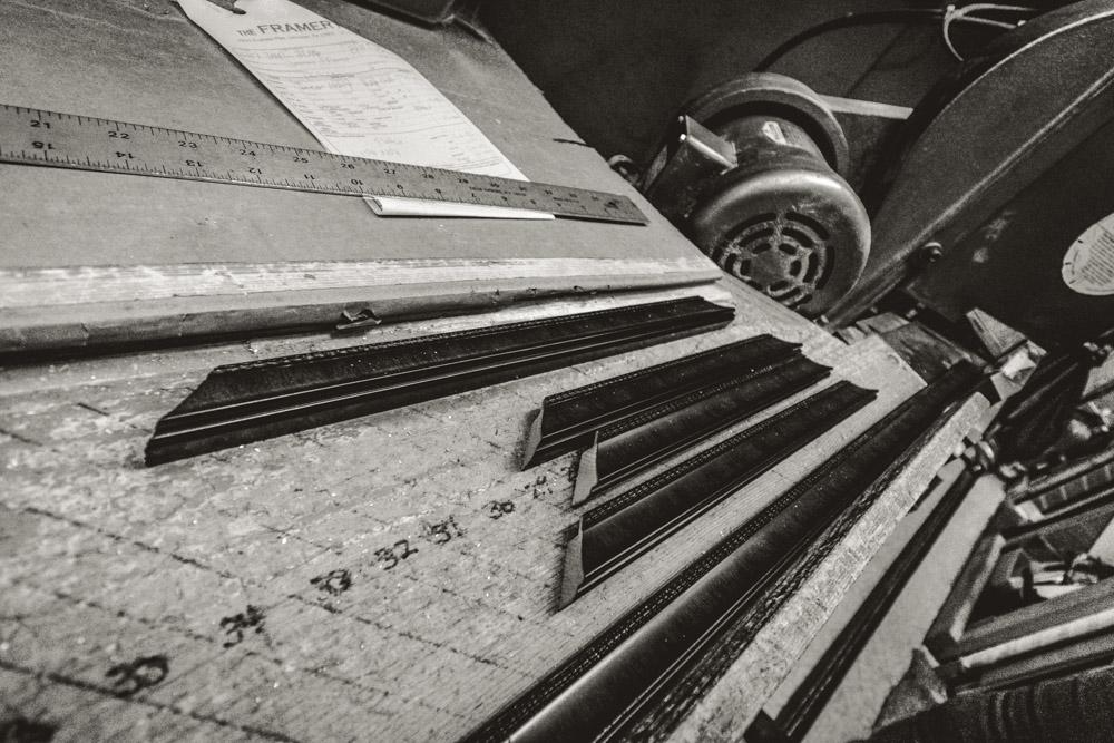 detail of cut photo frames