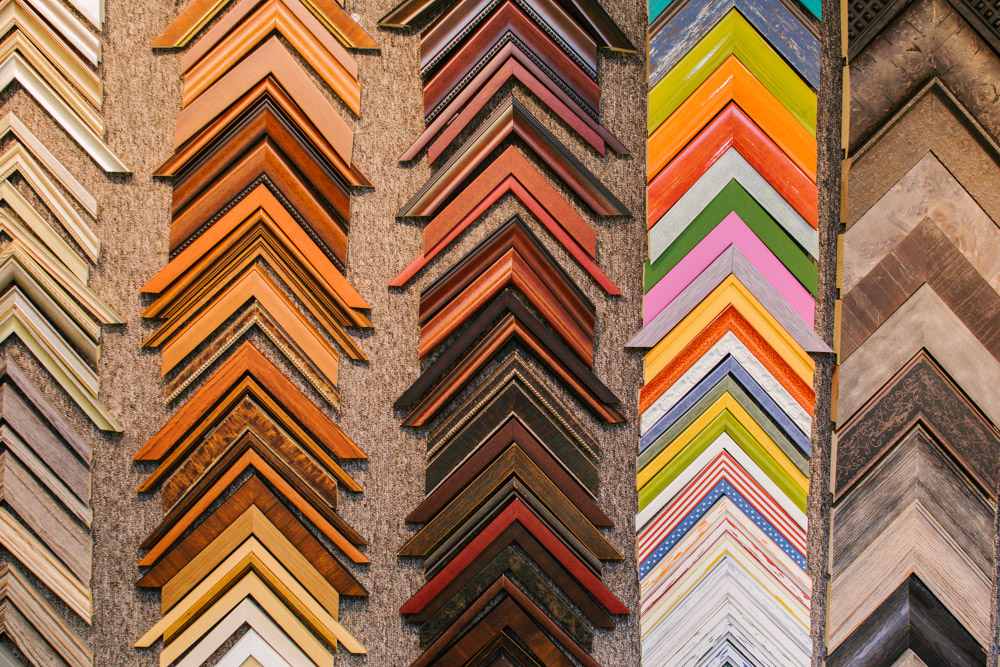 color framing options at The Framery Etc