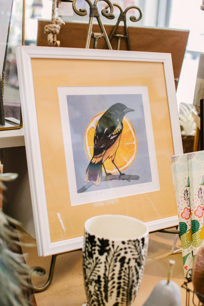 steph holmes art bird painting