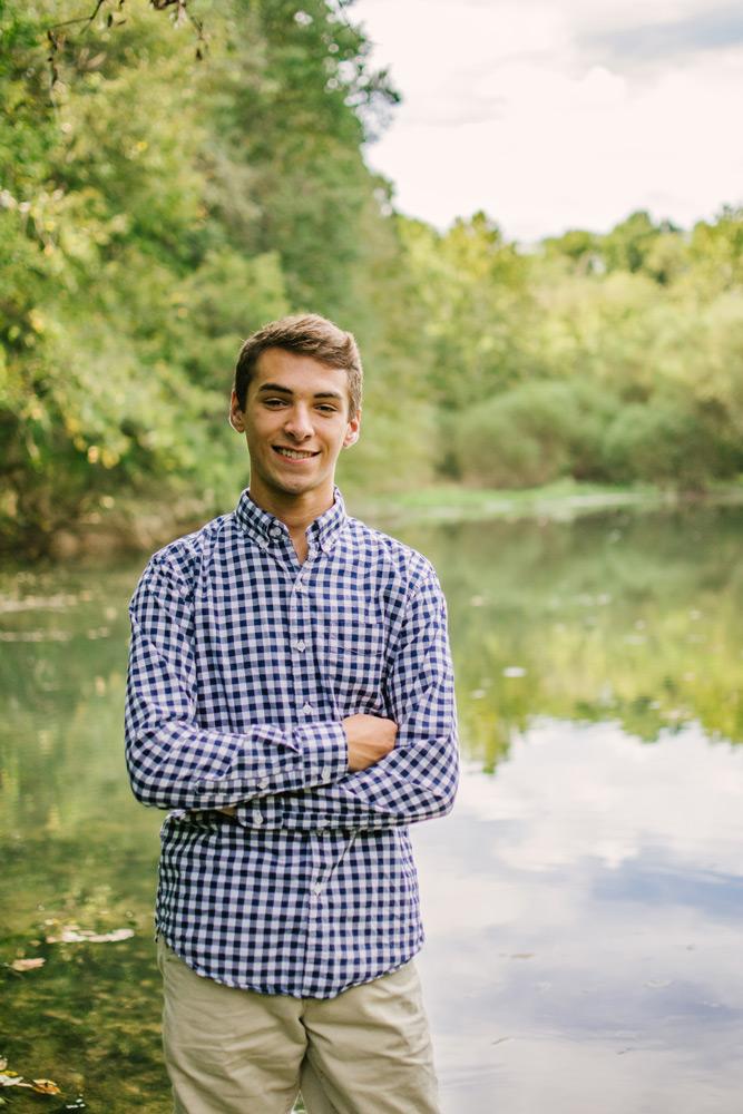 high school senior portrait in nature