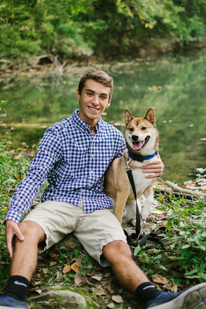 boy and dog portrait