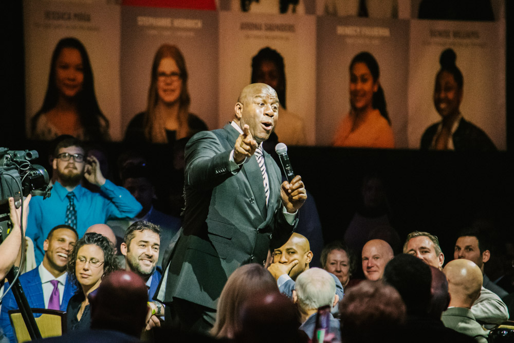 Magic Johnson at Lancaster Marriott for Atollo Prep by Chris Corrao